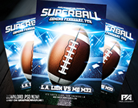 American Football Flyer Template (download .psd)