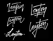 Leyton Clothing Lettering Logo Design