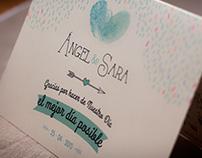 Invitación de boda Angel & Sara