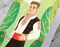 Bulgarian boy - greeting card