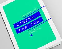 [ cinéma cartier - brochure typographique ]