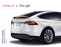 Tesla Model X & Google Dashboard Concept