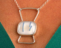 Fused glass and silver Jewelry - Part 1