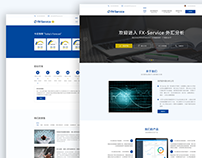 Forex Service Chinese Web Design UX/UI