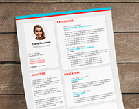 The Plateau - FREE Resume template