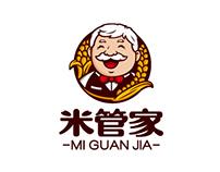 米管家MI GUAN JIA logo design