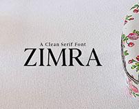 Free Zimra Serif Font