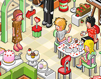 """Hi, nice to see you!"" - Isometric Coffee Party"
