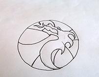 Dragon Basketball Team Logo