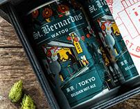 St. Bernardus Tokyo - Label Illustration