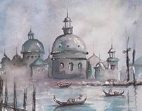 Maszid Watercolor Painting