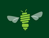 Logo Design for Green Bee