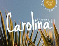 Carolina - Handwritten Font by Artcoast