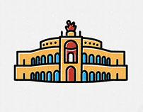 DRESDEN in symbols / city icons
