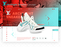 Louis Vuitton Sneakers Landing Page Concept