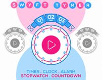 Swyft Tymer - Alarm | Clock | Timer | Stopwatch
