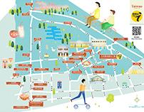 雲林借問站地圖 插畫設計 ''Yunlin Information Stations Map''