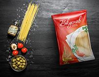 Упаковка макарон «Вкуснов»