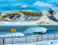 Snow Swell in South Jersey
