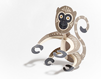 Paper Toy Monkey for Chinese New Year