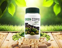Green Coffee Banner Advertisement Design