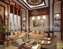 Stunning 3D Home Living Room Design View