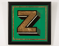 Glass Painting ''Z''