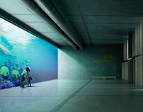 Fotomontaje Interior Acuario