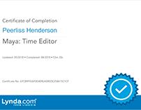 Maya: Time Editor (Certificate)