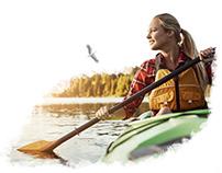Water kayaking trips