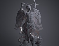 Michael Archangelum adversus Lucifer