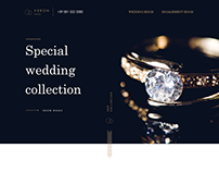 Training project. Catalog of wedding ring collection
