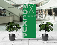 Realistic X-Banner Mockups