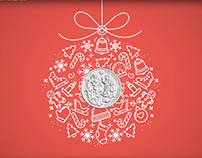 The Royal Mint Xmas motion graphic