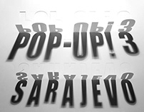 Visual identity for Pop-up! Sarajevo festival