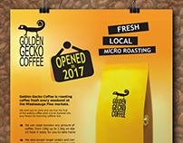 Golden Gecko Coffee Flyer design