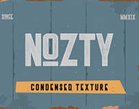 Introducing Nozty Textured a tall Ultra condensed sans