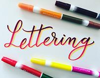 Lettering studies.