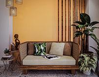 A Tropical Living Room