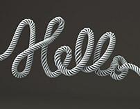 Hello - 3D typography
