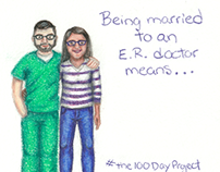 #the100DayProject Being Married to an ER Doc