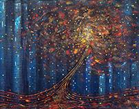 Autumn in the city- 100x50cm
