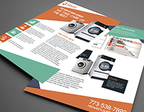 FLYER DESGIN FOR LAUNDRY FIRM