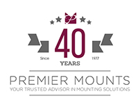 Premier Mounts 40th Anniversary Logo