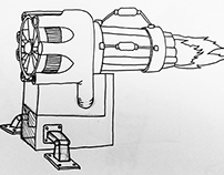 Jet-Powered Pencil Sharpener Artwork