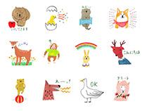 macco's animal sticker | LINE Sticker