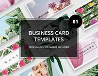 Business card bundle 01 + images