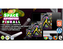 HTML5 Game: Space Adventure Pinball