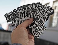New York Five Borough Sticker Pack
