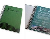 Hard cover and cover page for an appointment book